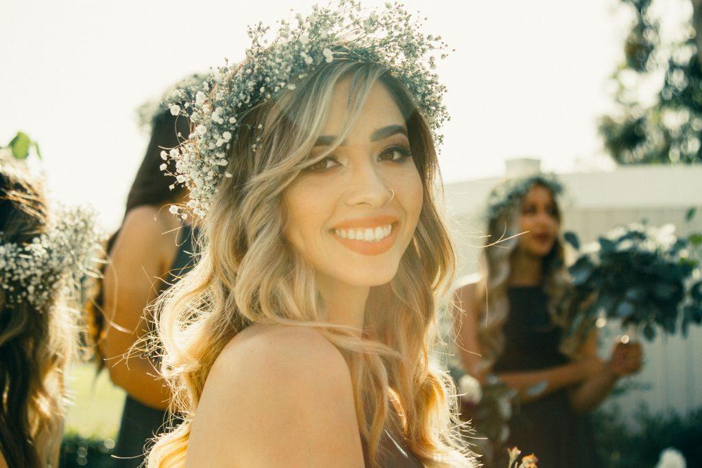 Wianek ślubny z kwiatów - Lovegarden